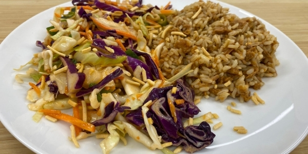coleslaw rice tuna